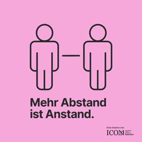 Icon: Mehr Abstand ist Anstand.