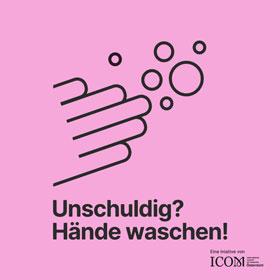 Icon: Unschuldig? Hände waschen!