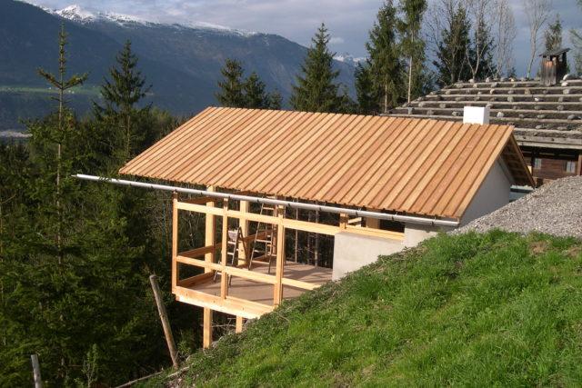 Neubau Rablhaus im Bau