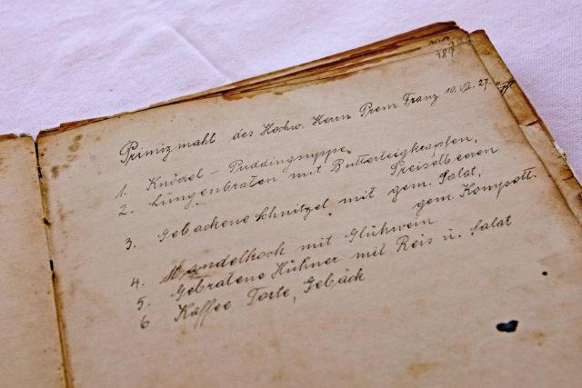 Handschriftlicher Eintrag im Kochburg der Kirchenwirtin in Weerberg 1927